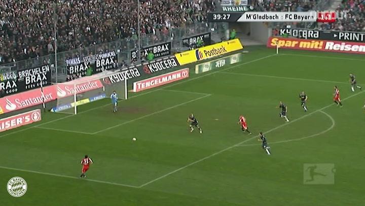 Bastian Schweinsteiger's superb flick vs Gladbach
