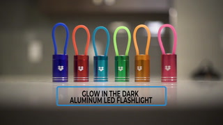 Glow In The Dark Aluminium Led Flashlight