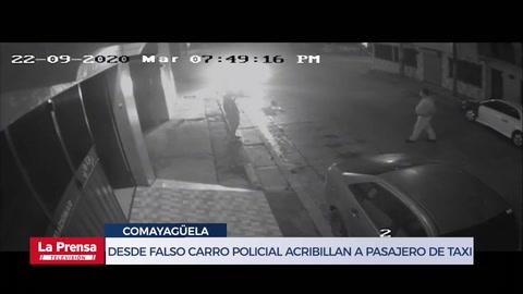 Desde falso carro policial acribillan a pasajero de taxi en Comayagüela