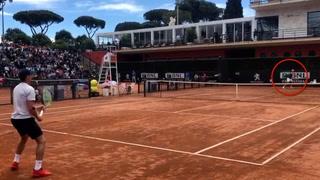 Se eksklusiv video: Her spiller det norske tennishåpet mot Nadal