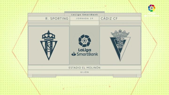 LaLiga SmartBank (J29): Resumen y gol del Sporting 1-0 Cádiz