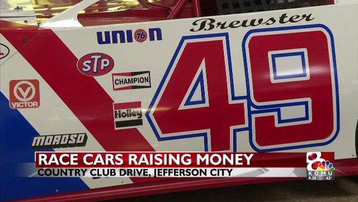 Race cars raising money for veterans
