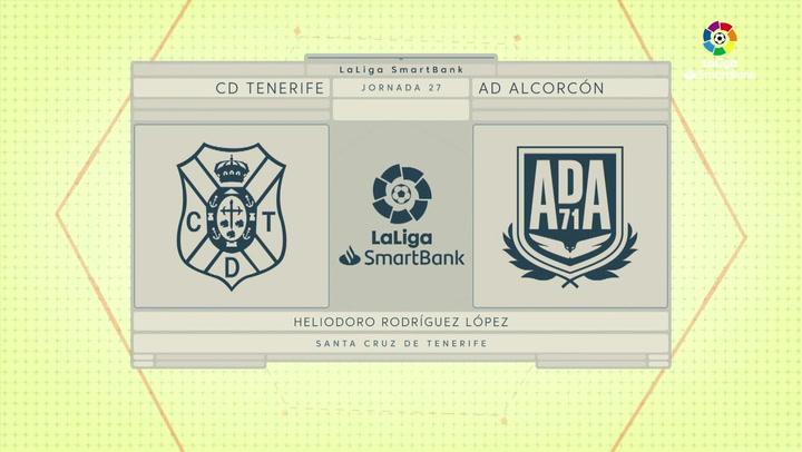 LaLiga SmartBank (J27): Resumen y goles del Tenerife 3-1 Alcorcón