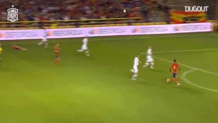 Cuando Rodrigo marcó el hat-trick más rápido de la selección española