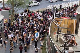 Protest on Las Vegas Strip after unarmed black man's death in Minnesota
