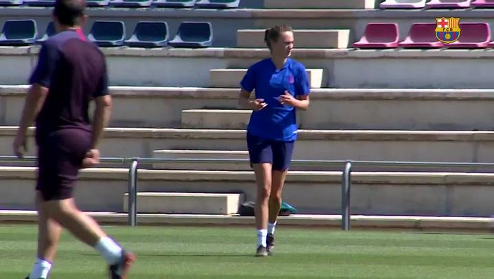 Caroline Graham Hansen se incorpora a los entrenamientos del Barça
