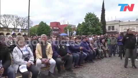 Moyano encabezó una marcha y una misa por pan y trabajo en Luján