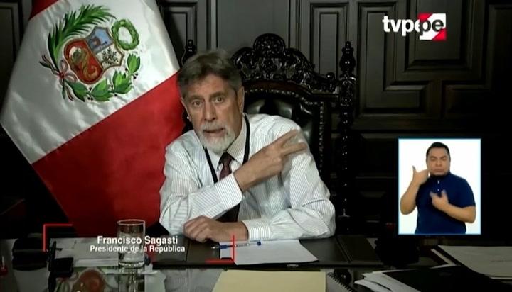 """Francisco Sagasti asegura que se vacunará: """"Voy a poner el hombro"""" │VIDEO"""
