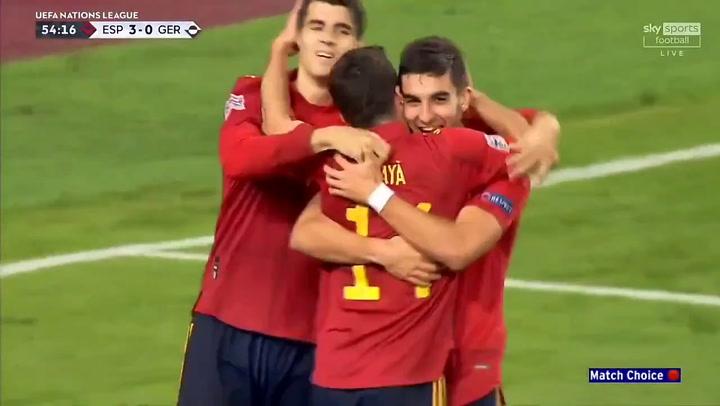 España-Alemania 4-0. Gol de Ferran Torres