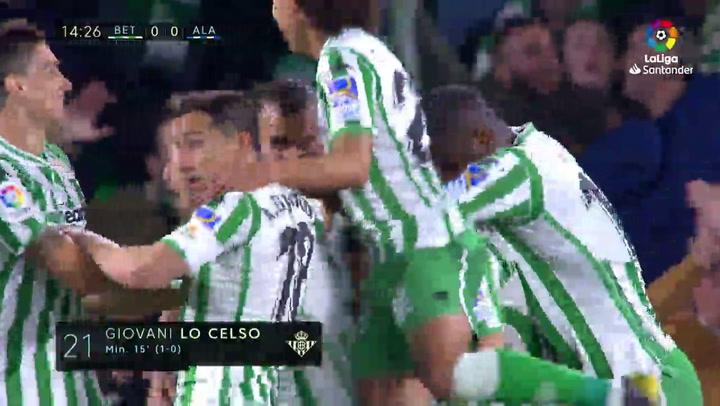 El gol de Lo Celso (Betis) al Alavés