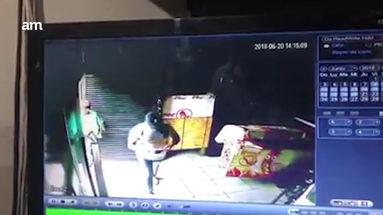 Video: Roban 'La Madame' en menos de un minuto