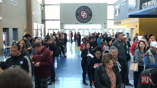 Desert Oasis High School has wait for caucus check-in – VIDEO