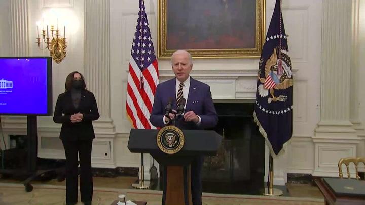 Joe Biden sostuvo llamada con gobernantes de México y Canadá