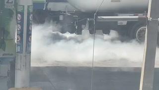 Fuga en un vehículo de gas en barrio La Guadalupe