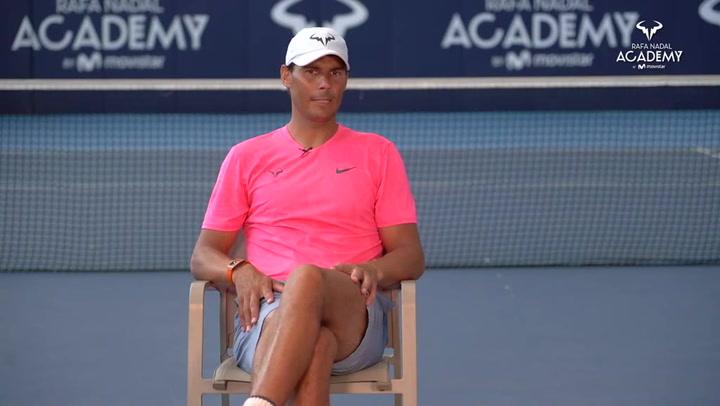 Las reflexiones de Rafa Nadal tras cuatro años de academia