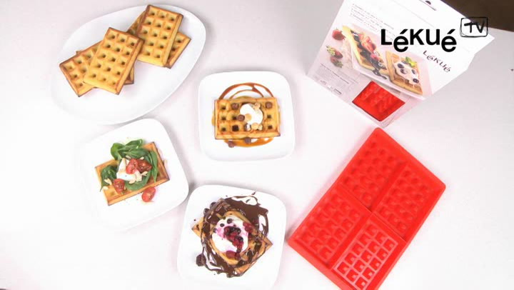 Preview image of Lekue Silicone Waffle Moulds, Set of 2 video