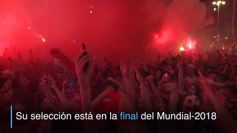 Delirio croata para festejar el pase a la final del Mundial