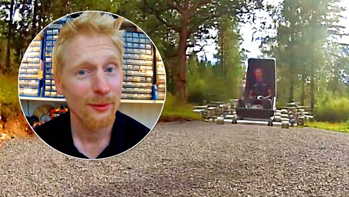 Svenske Axel imponerer med hjemmelagd «helikopter»