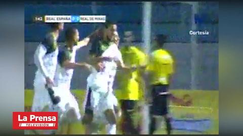 Juan Ramón Mejía Anota El 0-1 Ante Real España