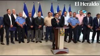 Autoridades brindan conferencia por el tema de violencia
