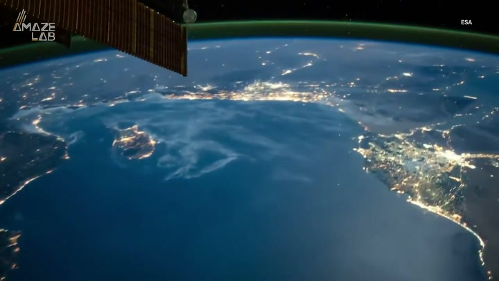 Astronaut's timelapses show stunning views of Earth from space