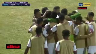 El golazo de Edwin Rodríguez para aumentar la ventaja de Olimpia ante el Honduras Progreso