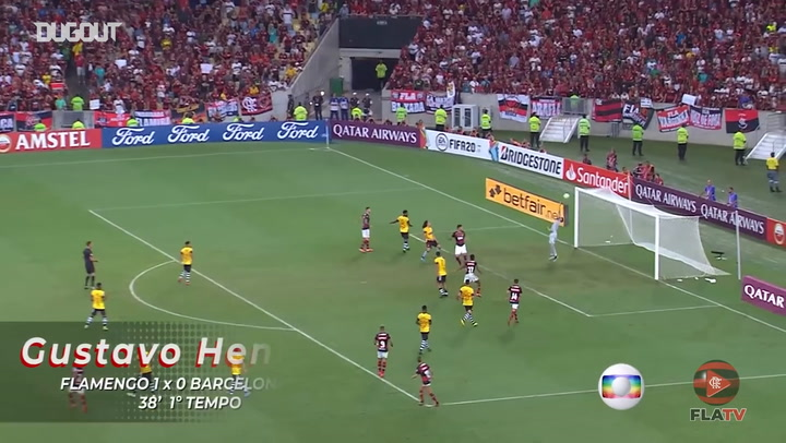 Gustavo Henrique, Bruno Henrique and Gabriel Barbosa on target against Barcelona SC