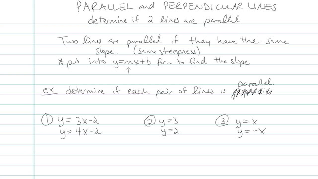 Parallel and Perpendicular Lines - Problem 8