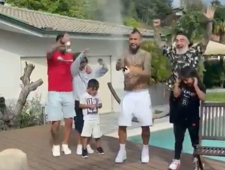 Así celebró Arturo Vidal la consecución de la liga italiana con el Inter