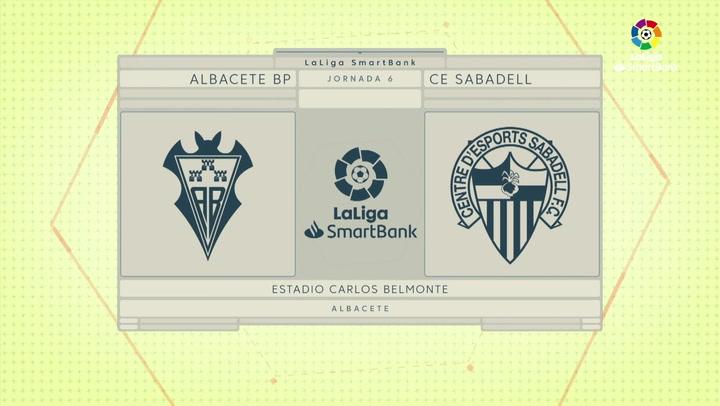 LaLiga Smartbank (Jornada 6): Albacete 3-0 Sabadell
