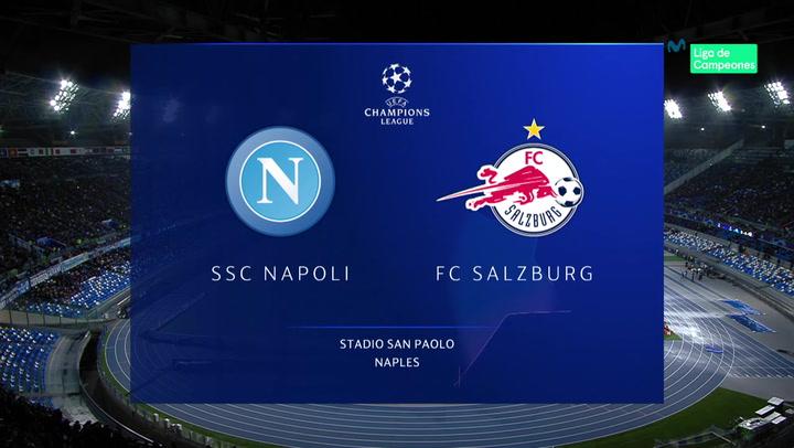 Champions League: Resumen y Goles del Nápoles - Salzburgo