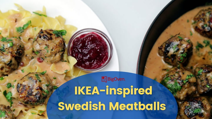 IKEA-Inspired Swedish Meatballs with Butter Noodles