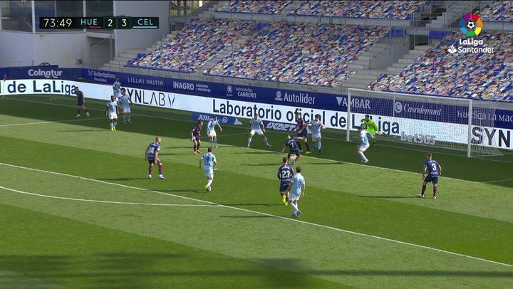 Gol de Ferreiro (3-3) en el Huesca 3-4 Celta