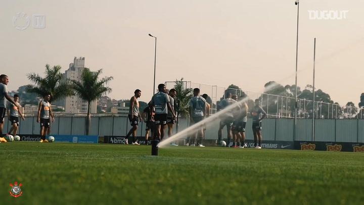 Corinthians train ahead of the derby against Palmeiras