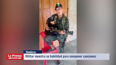 Militar muestra su talento en redes sociales