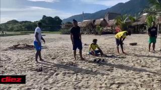 Tyson Núñez, el preparador físico que pule a Darixon Vuelto, Júnior Lacayo y Arnaldo Urbina en la playa