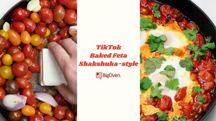 TikTok Baked Feta Shakshuka-Style