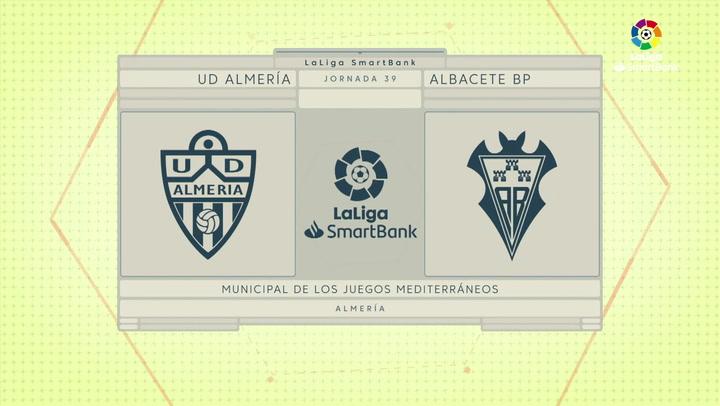 LaLiga SmartBank (J39): Resumen y goles del Almería 1-1 Albacete