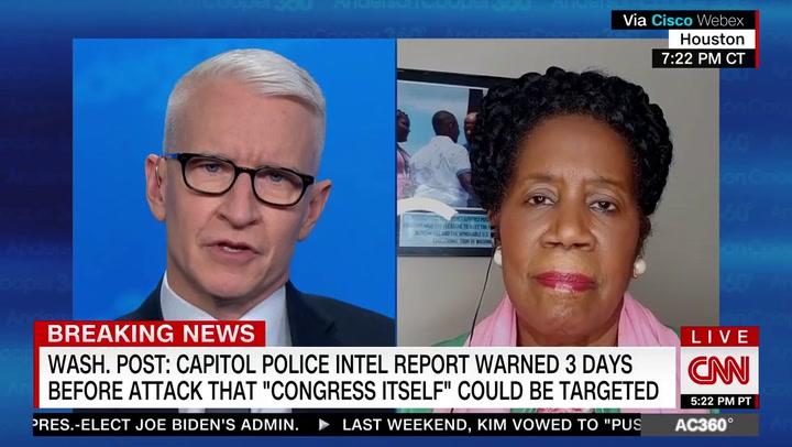 Sheila Jackson Lee on Capital Riot: Trump 'Has Death and Blood at His Feet'