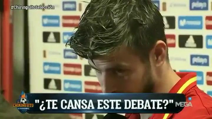 Piqué contestó a Edu Aguirre