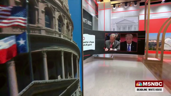 MSNBC's Wallace: TX Gov Abbott Is a 'Weak, Pathetic' Loser Kowtowing to Trump