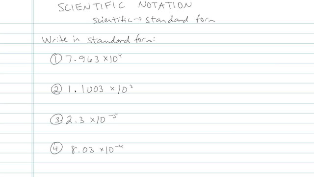 Scientific Notation - Problem 8