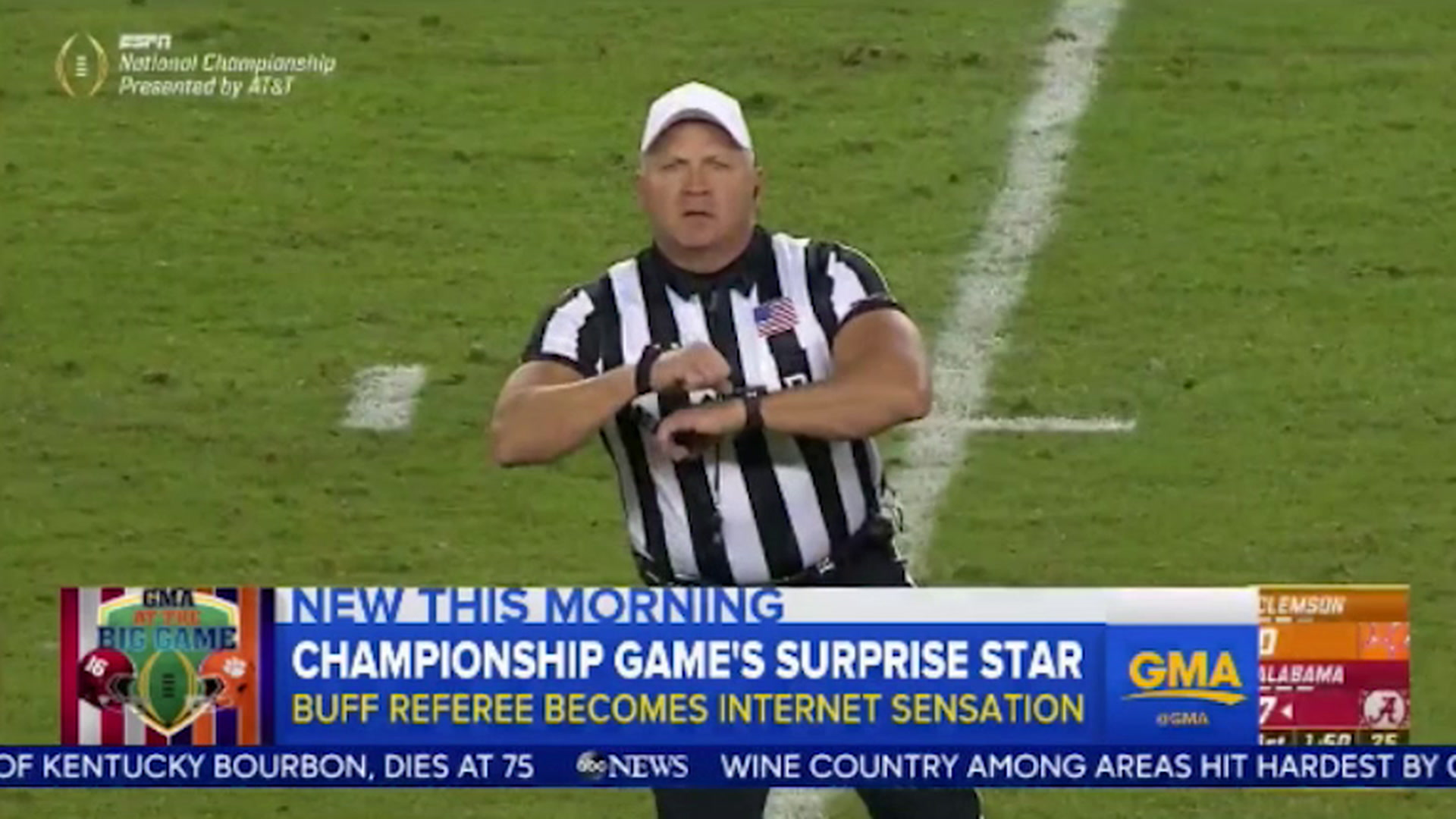 College Football Referee Mike Defee s Buff Arms Steal the Show 1e86fbf3d