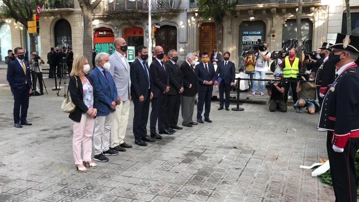 El Barça participa en la ofrenda a Rafael Casanova por la Diada