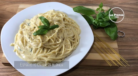 Cocinando con Mayte: Espaguetis en salsa blanca