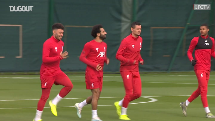 Liverpool train ahead of KRC Genk fixture