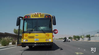 Stop for school buses, urges CCSD
