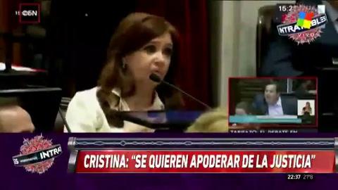 El duro cruce entre Cristina, oficialistas y justicialistas dominó el debate en el Senado