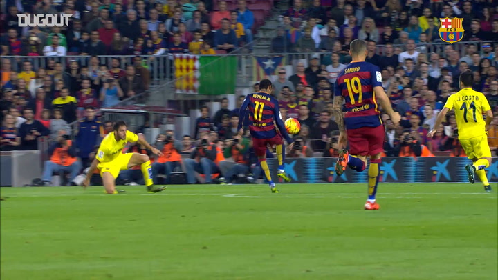 Incredible Goals: Neymar Vs Villarreal