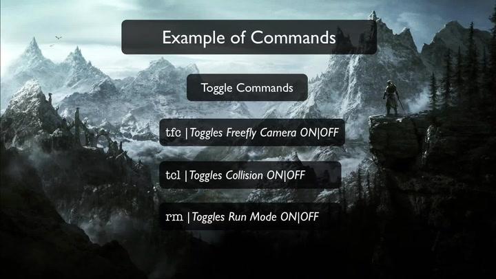 Skyrim - Console Commands